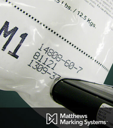 Print sample from Matthews Marking Systems